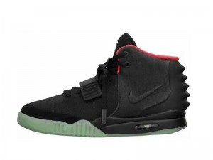 Fake Air Yeezy 2 Solar Red High-top Shoes